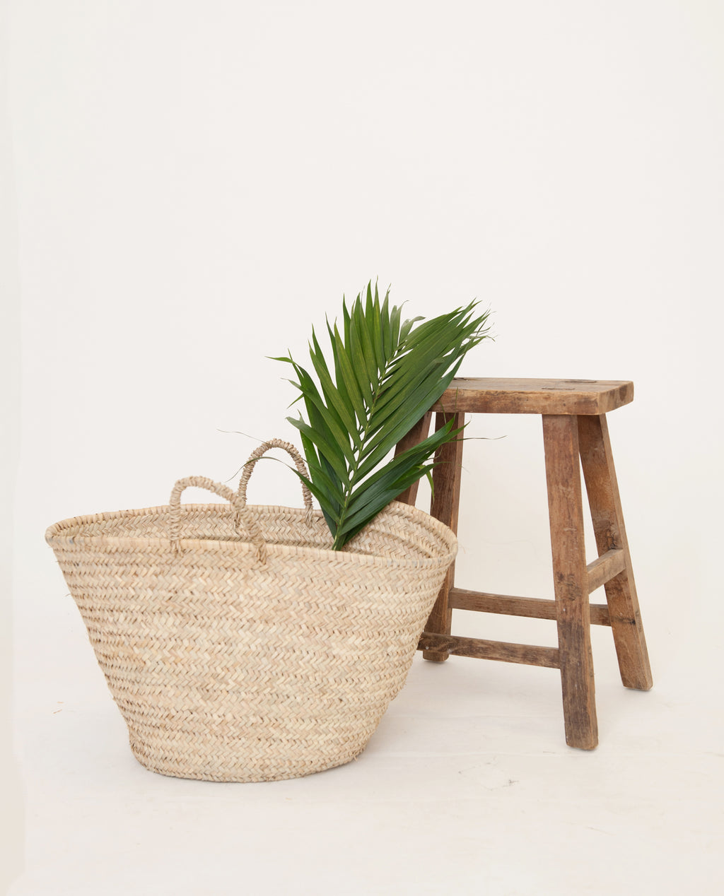 Large Straw Shopping Basket