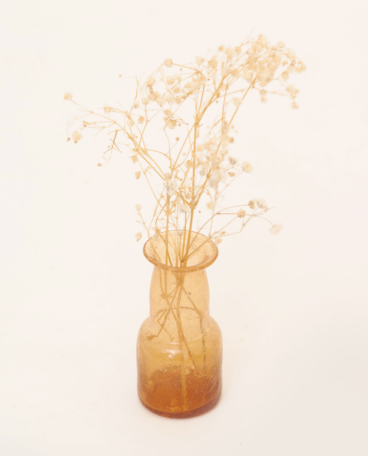Small Recycled Peach Glass Vase