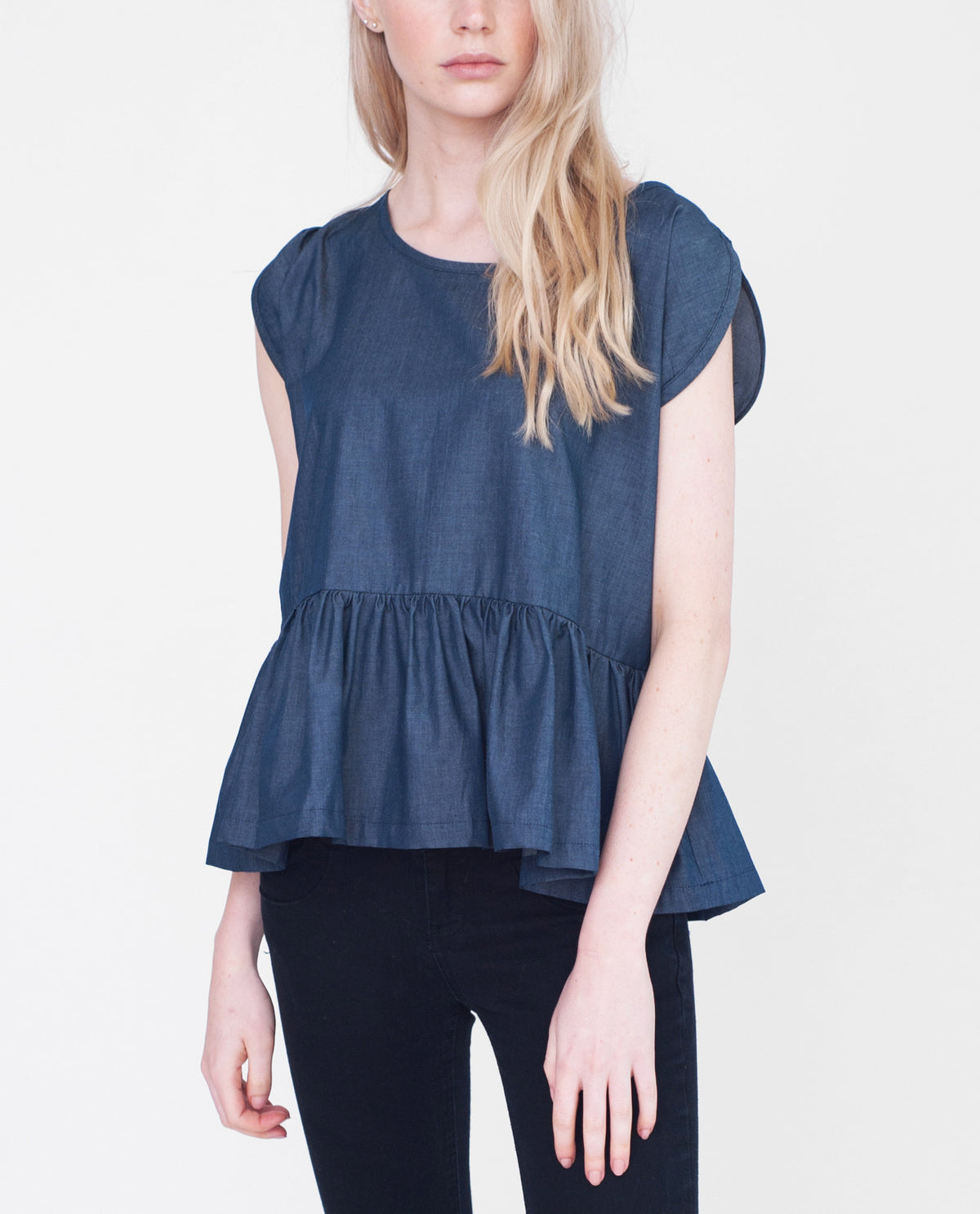 BELLE Cotton Denim Top
