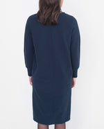 BERTIE Organic Cotton Sweatshirt Dress In Navy