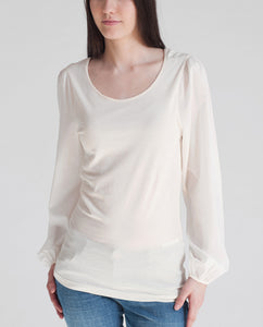 BRITTANY Organic Cotton Top In Natural
