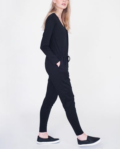 BROOKLYN Lyocell And Cotton Jumpsuit