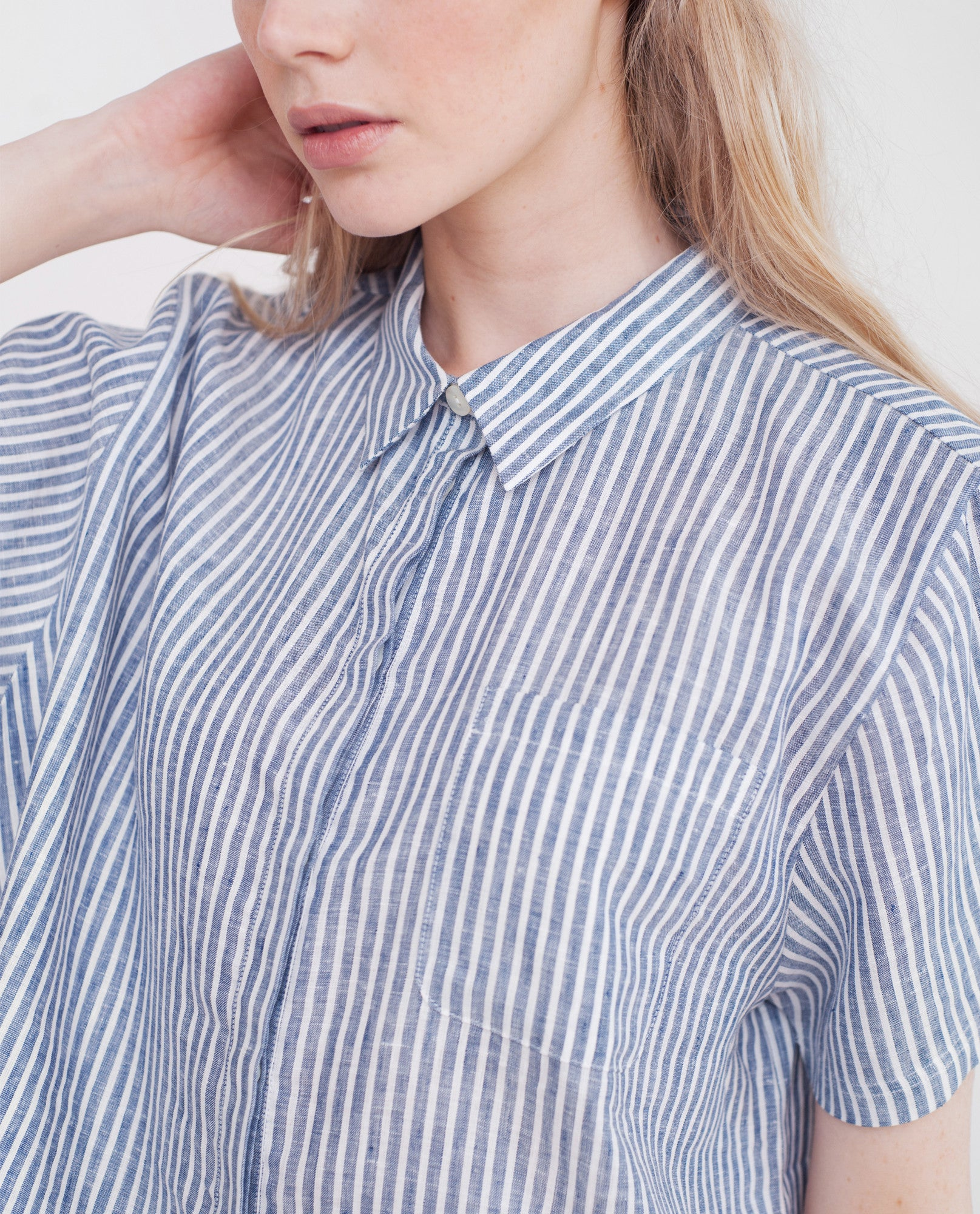 BRYNLEE Linen Striped Shirt