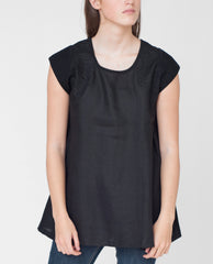 BUTTERCUP Linen And Organic Cotton Tunic In Black