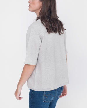 CALLI Organic Cotton Sweatshirt In Light Grey