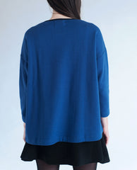 CARRY Organic Cotton Insert Top In Cobalt