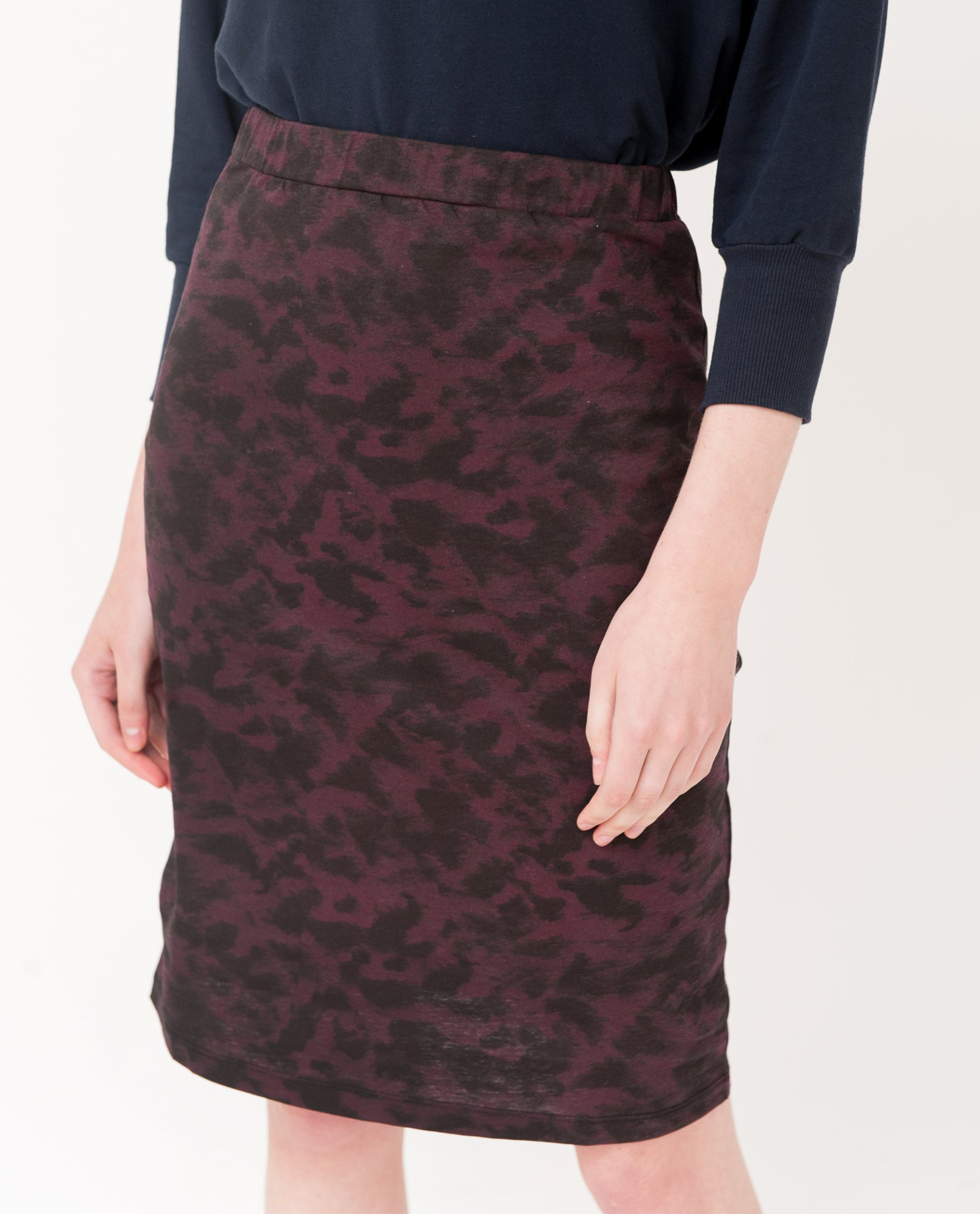 CARRIE Organic Cotton Leopard Print Skirt