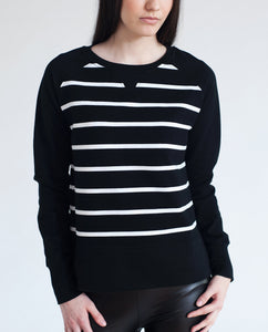 CERYS Organic Cotton Sweatshirt In Black and White