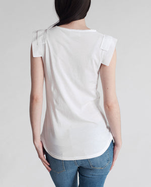 CHARITY Organic Cotton Top In White