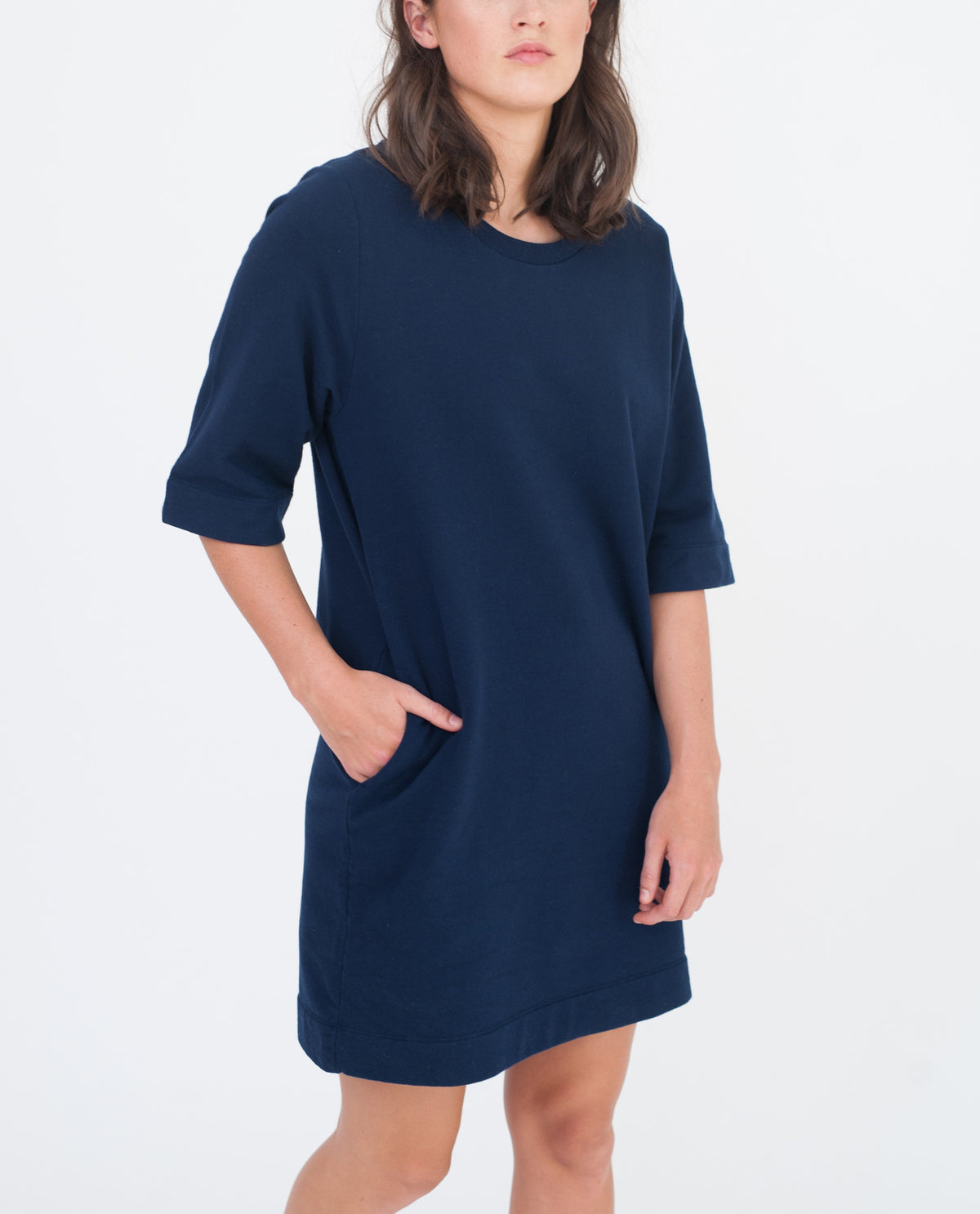 CHLOE Organic Cotton Dress In Navy