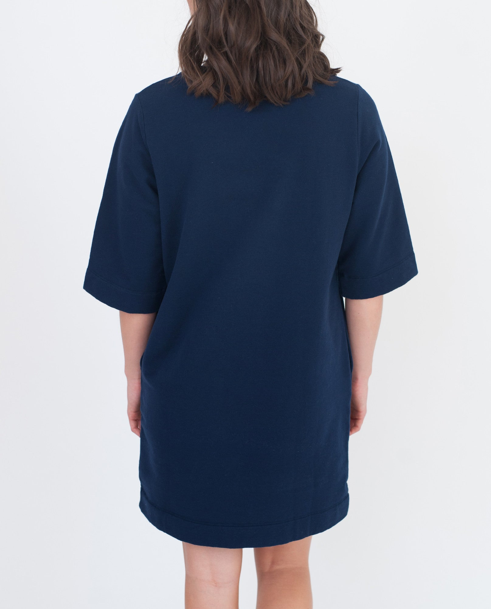 CHLOE Organic Cotton Dress In Navy from Beaumont Organic