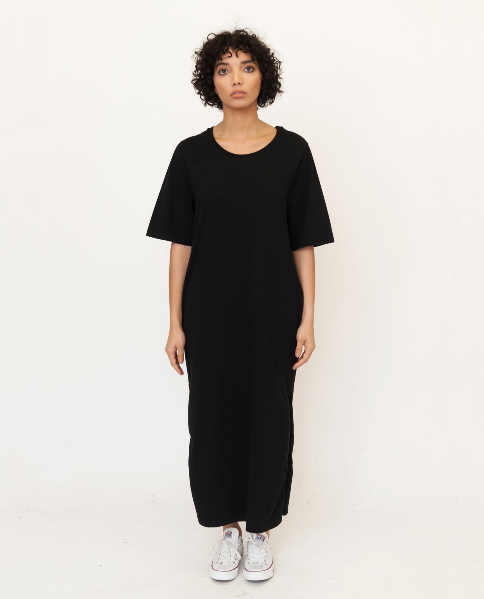 CHRISTIE Organic Cotton Dress In Black from Beaumont Organic
