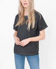 COURTNEY Organic Cotton Top In Washed Black