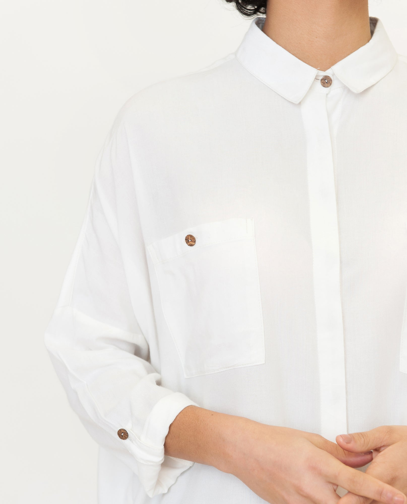 CRISTINA Bamboo Shirt In White