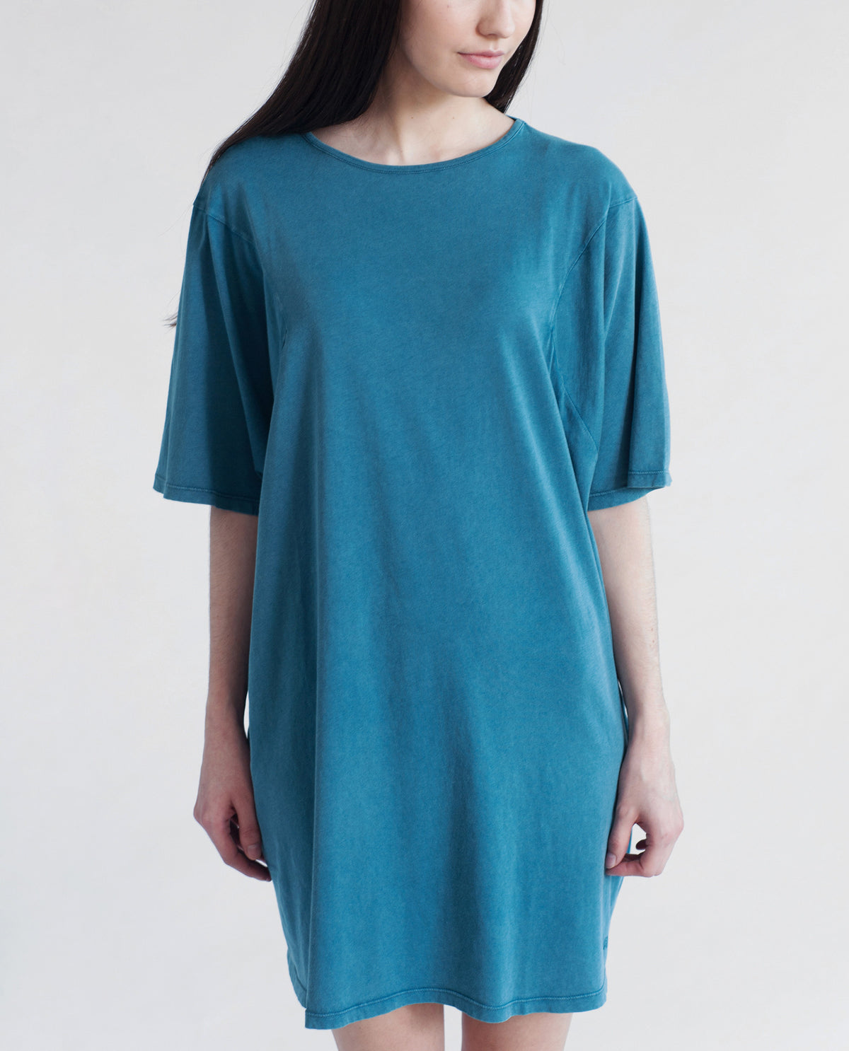 DAISY Organic Cotton Tshirt In Denim Blue