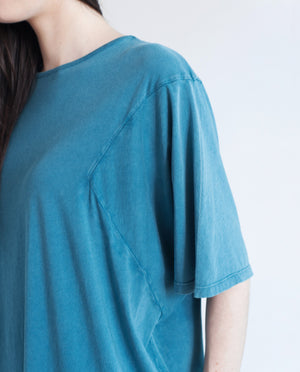 DAISY Organic Cotton Oversized Tshirt In Denim Blue