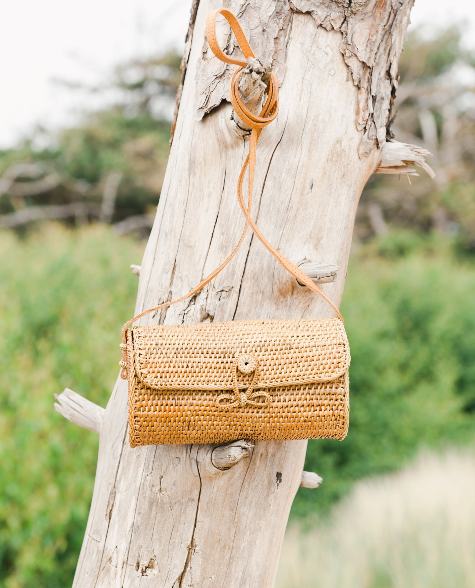 DIAH Rattan Cross Body Bag