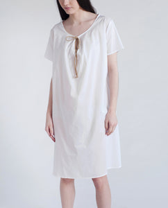 DANDELION Organic Cotton Dress In White