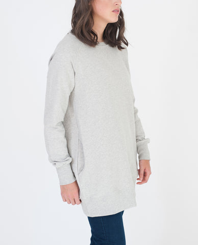 DANIELLE Organic Cotton Sweatshirt In Light Grey