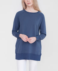 DANIELLE Organic Cotton Sweatshirt In Washed Navy