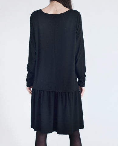 DAWN Dropped Waist Dress In Black