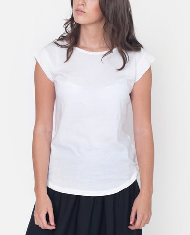 DORIS Organic Cotton And Linen Top In White