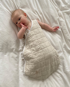 Della Organic Cotton Sleeping Bag In Bone