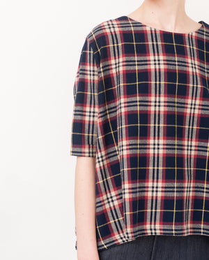 ELLA Cotton Tartan Top