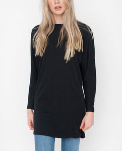 ELLEN Lyocell And Cotton Dress In Black