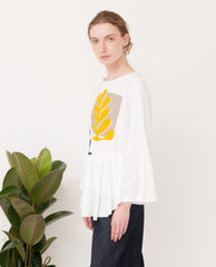 ELSA Organic Cotton Top In Off White