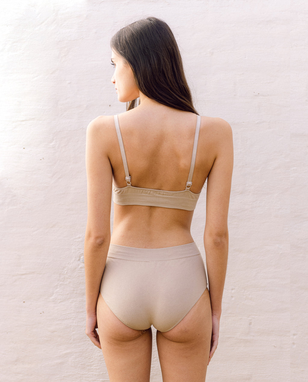 Endija Organic Cotton High Waisted Briefs In Sand