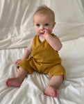 Evan Organic Cotton Romper In Sun