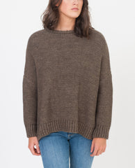 FAYE-MARIE Wool Knitted Jumper In Tobacco