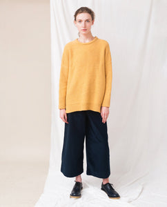 FAYE-MARIE Wool Knitted Jumper In Turmeric