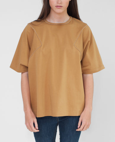 FLEUR Cotton Canvas Oversized Top