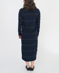 GLORIA Organic Cotton Dress In Navy And Dark Grey