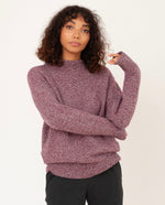 HUNTER Superfine Lambswool Jumper In Bordeaux Marl