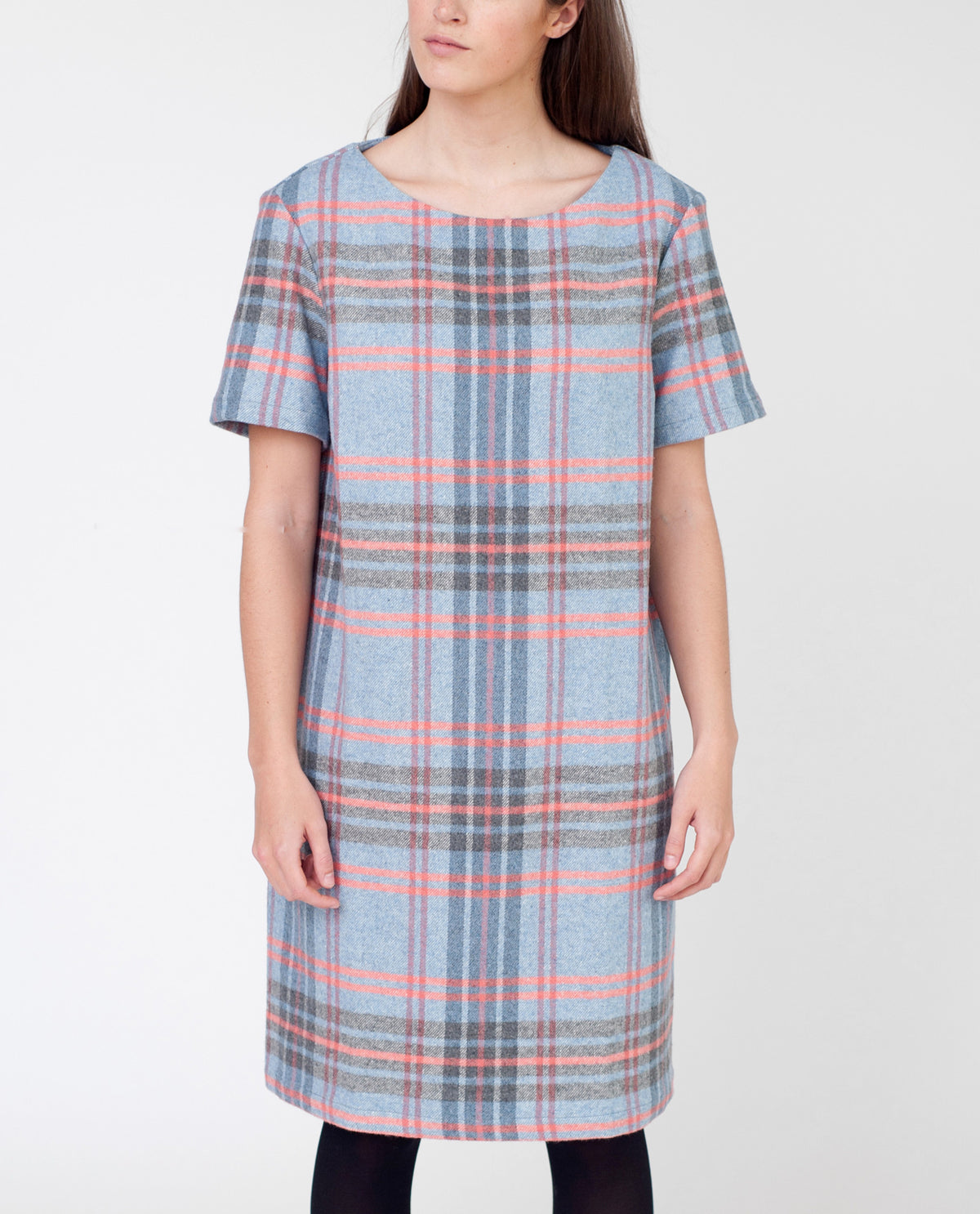 HALLIE Checked Shift Dress