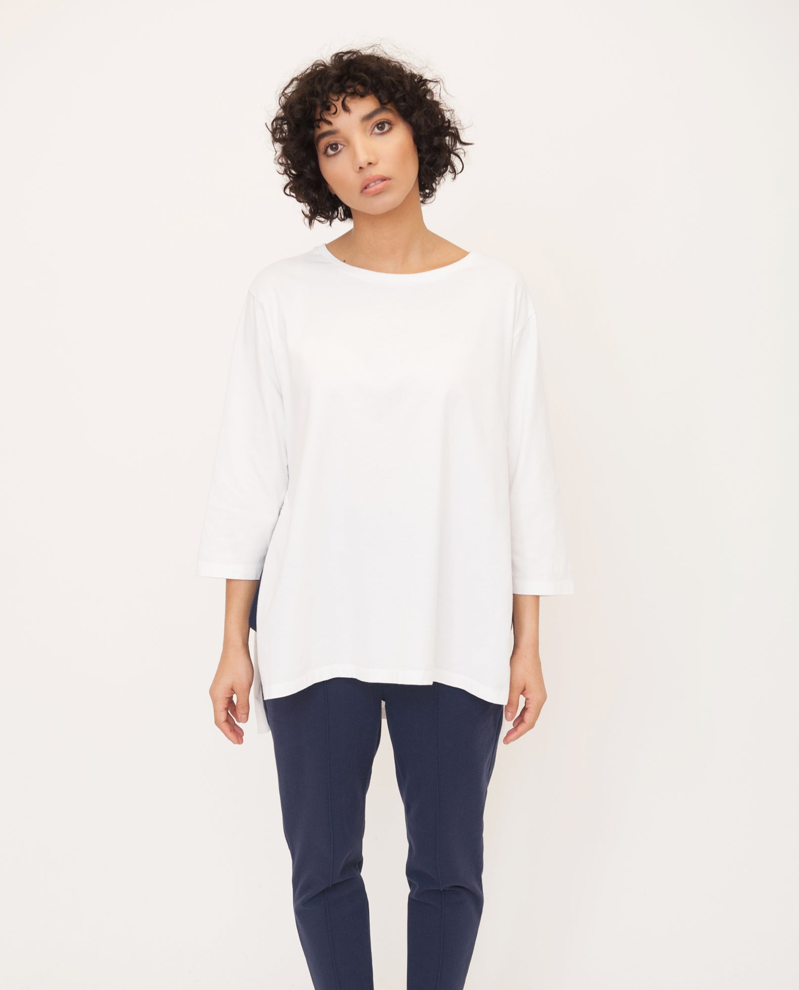 HATTIE Organic Cotton Top In Off White