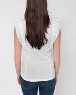 HAZEL Organic Cottton Top In White