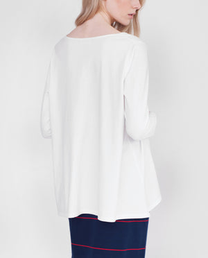 HELSA Organic Cotton Swing Top In White