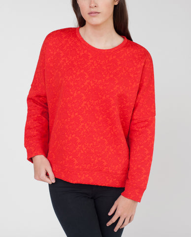 HENRIETTA Embossed Cotton Jumper