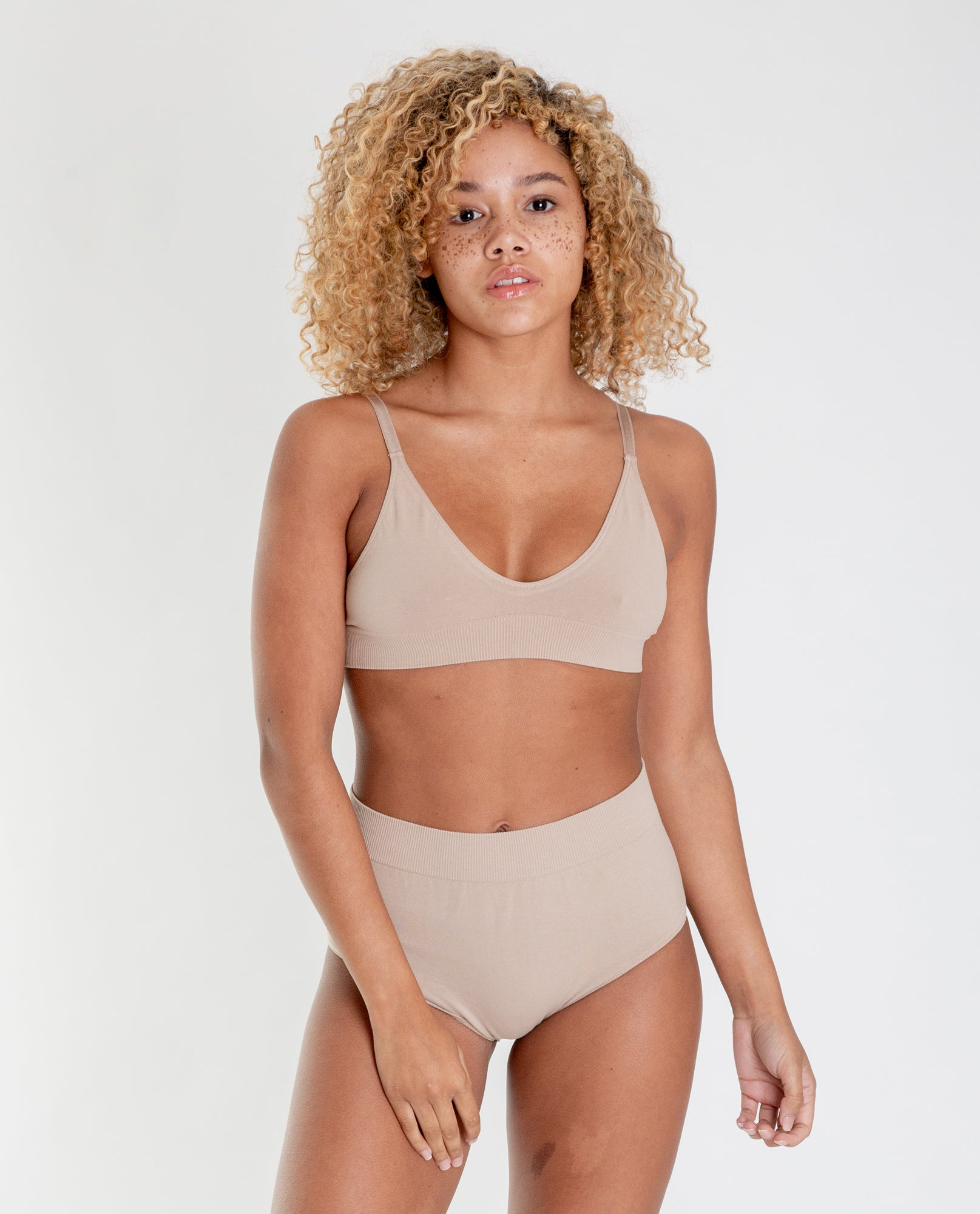 ILZE Organic Cotton Bra In Nude