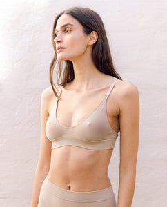 Ilze Organic Cotton Bra In Sand