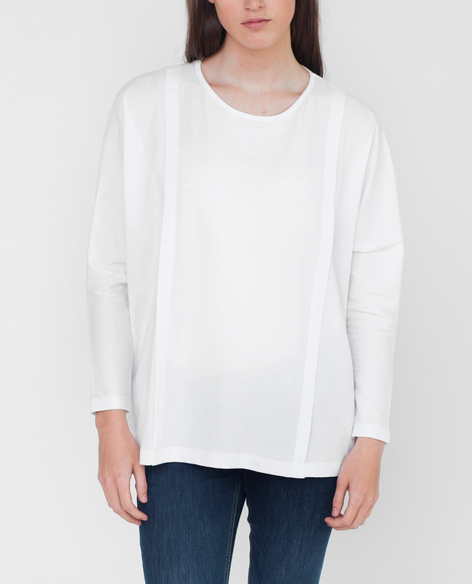 IMOGEN Organic Cotton Top In White from Beaumont Organic