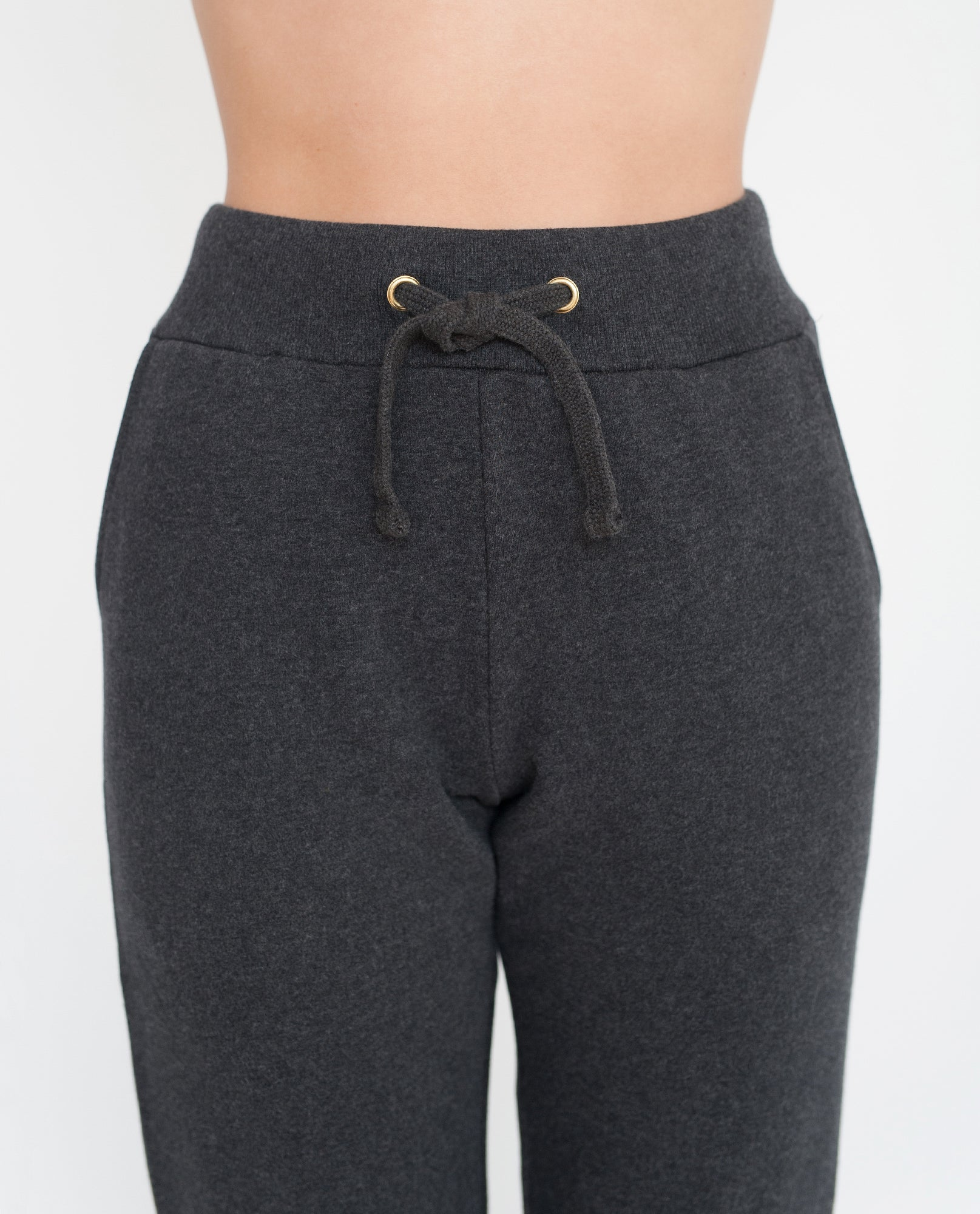 ISLA Organic Cotton Trousers In Dark Grey