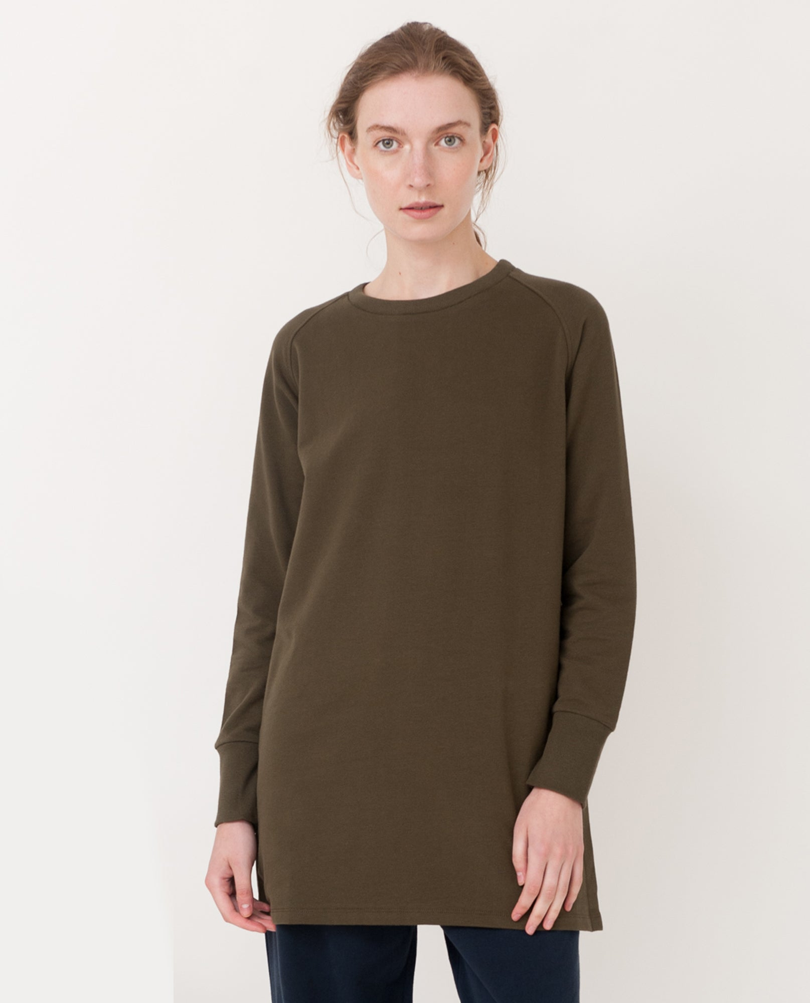 JAMIE Organic Cotton Top In Khaki