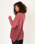 JANE Organic Cotton Top In Old Rose & Burgundy