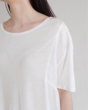 JACINTA Bamboo And Linen Top In White