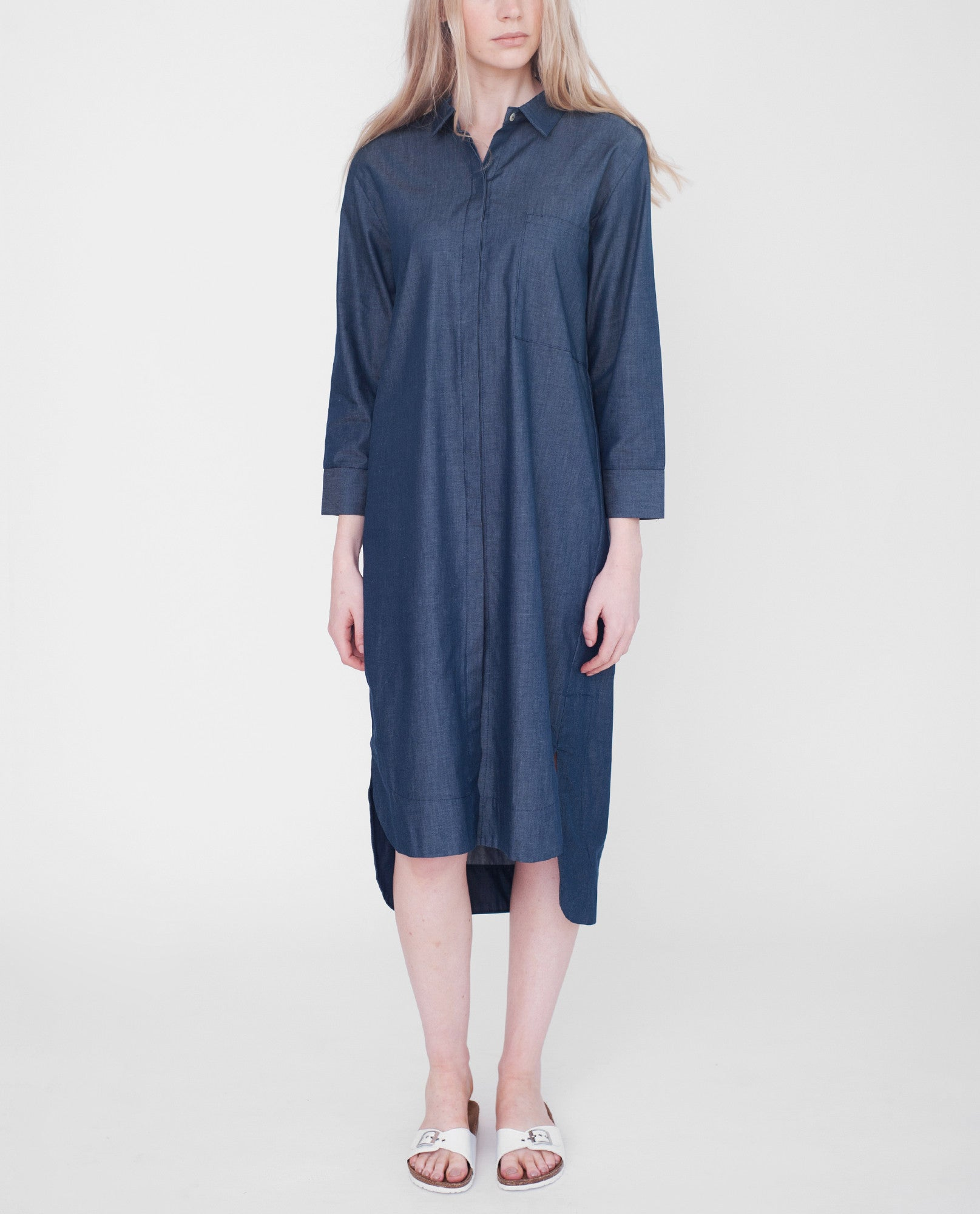 JAMILA Cotton Denim Shirt from Beaumont Organic